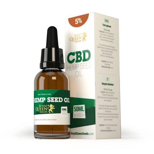 Olej CBD z Nasion Konopi 5%, 50ml - Royal Queen Seeds, Produkt, Sklep